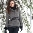 Portrait of beautiful girl in winter time - Lizenzfreies Foto