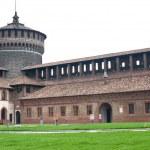 Interior view of Sforzesco Castle Tower in Milan, Italy — Stock Photo #14976929