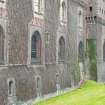 Exterior view of Sforza Castle in Milan, Italy — Stock Photo #14976957