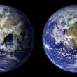 Earth view from space. Eastern and Western area — Stock Photo #14977287