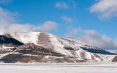 Castelluccio di Norcia village, Italy. Winter time with snow — Stock Photo