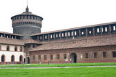 Interior view of Sforzesco Castle Tower in Milan, Italy — Stock Photo