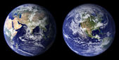 Earth view from space. Eastern and Western area — Stock Photo