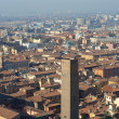 Panoramic view of the roofs of Bologna - Stockfoto