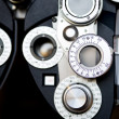 Detail of optometrist diopter - Stock Photo