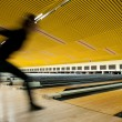 Bowling player in Action - Motion effect - Stock Photo