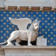Winged lion, symbol of Venice, Italy — Stock Photo