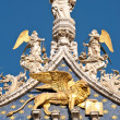 Stock Photo: Winged lion, symbol of Venice, Italy