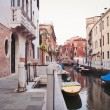 Stock Photo: Typical street of Venice, Italy