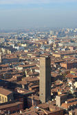 Panoramic view of the roofs of Bologna — Stock Photo