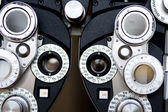Detail of optometrist diopter — Stock Photo
