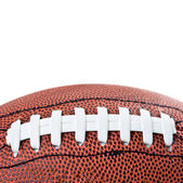 American football ball. Isolated on white background — Stock Photo