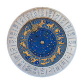 Astronomical clock with statues. Venice, Italy — Stock Photo