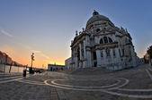Santa Maria Della Salute at sunshine, Grand canal. Venice, Italy — Stock Photo