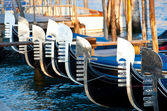 Grand canal view with gondolas. Venice, Italy — Stock Photo