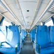 Empty seats inside train. Fish eye view — Stock Photo #15652725