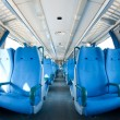 Empty seats inside a train. Fish eye view — Foto Stock