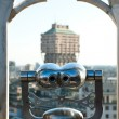 Velasca Tower view from binocular on the roof of the Dome. Milan, Italy — Stock Photo