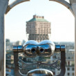 Stock Photo: Velasca Tower view from binocular on the roof of the Dome. Milan, Italy