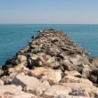 Rocks pier on Adriatic sea - Foto Stock