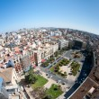 View of the roofs of Valencia, Spain, from top of the Cathedral - Stock Photo