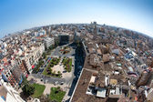 View of the roofs of Valencia, Spain, from top of the Cathedral — Stock Photo