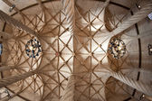 Ceiling view of the Old Silk Exchange (Lonja de la Seda), Valencia, Spain — Stock Photo