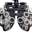 Optometrist diopter. White background - Stock Photo