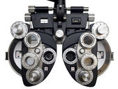 Optometrist diopter. White background — Stock Photo