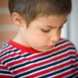 Close-up portrait of six year old kid - Stock Photo