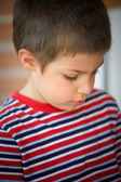 Close-up portrait of six year old kid — Stock Photo