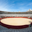 Interior view of Plaza de toros (bullring) in Valencia, Spain. The stadium was built by architect Sebastian Monleon in 1851 — Stock Photo #16943955