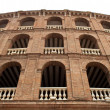 Detail of Plaza de toros (bullring) in Valencia, Spain. The stadium - Stock Photo