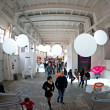 Visit design exhibition in Zona Tortona area during Fuorisalone - Stok fotoğraf