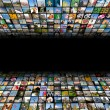 Abstract multimedia background made by different images — Stock Photo