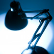 Desk lamp silhouette — Stock Photo