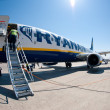 BOLOGNA, ITALY - MARCH 29:Preparing for boarding Ryanair Jet air — Stock Photo