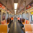 NEW YORK CITY - JUNE 26: Empty subway wagon — Stock Photo