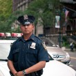 Stock Photo: NEW YORK CITY - JUN 27: NYPD Police officer in NYC