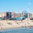 NEW YORK - JUNE 27: on the beach on June 27, 2012 in Coney Island — Stock Photo