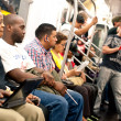 NEW YORK CITY - JUNE 27: Commuters in subway wagon — Stock Photo