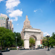 NEW YORK CITY - JUNE 28: Washington Square Park, with 9.75 acres — Stock Photo