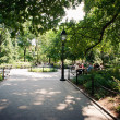 NEW YORK CITY - JUNE 28: Washington Square Park, with 9.75 acres - Stock Photo