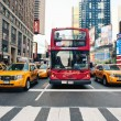 NEW YORK CITY - JUNE 28: Times Square is a busy tourist intersection — Foto Stock