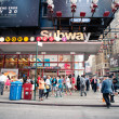 NEW YORK CITY - JUN 26: Times square subway station in NYC — Stock Photo