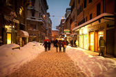 BOLOGNA, ITALY - FEBRUARY 4: walking in city center — Stock Photo