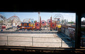 NEW YORK - JUNE 27: Coney Island attraction view from Stillwell Avenue subway station — Stock Photo