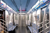 NEW YORK CITY - JUNE 27: Empty subway wagon on June 27, 2012 in — Stock Photo