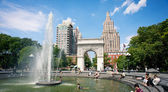 NEW YORK CITY - JUNE 28: Washington Square Park, with 9.75 acres — 图库照片