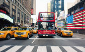NEW YORK CITY - JUNE 28: Times Square is a busy tourist intersection — Stock Photo